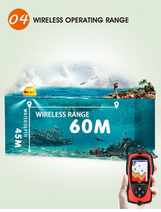 Wireless Remote Sonar Sensor High Definition LCD Fish Finder