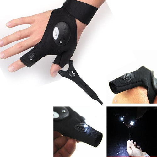 Anti-Slip LED Fishing Gloves