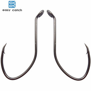 Easy Catch 100pcs High Carbon Steel Fishing Hooks