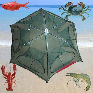 AUTOMATIC CRAWFISH TRAP CAST NET (6 HOLES)