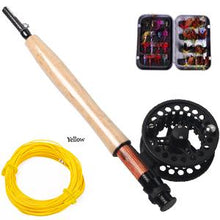 2.7M Carbon Fly Fishing Rod with Metal Fly Reel Combo Kit