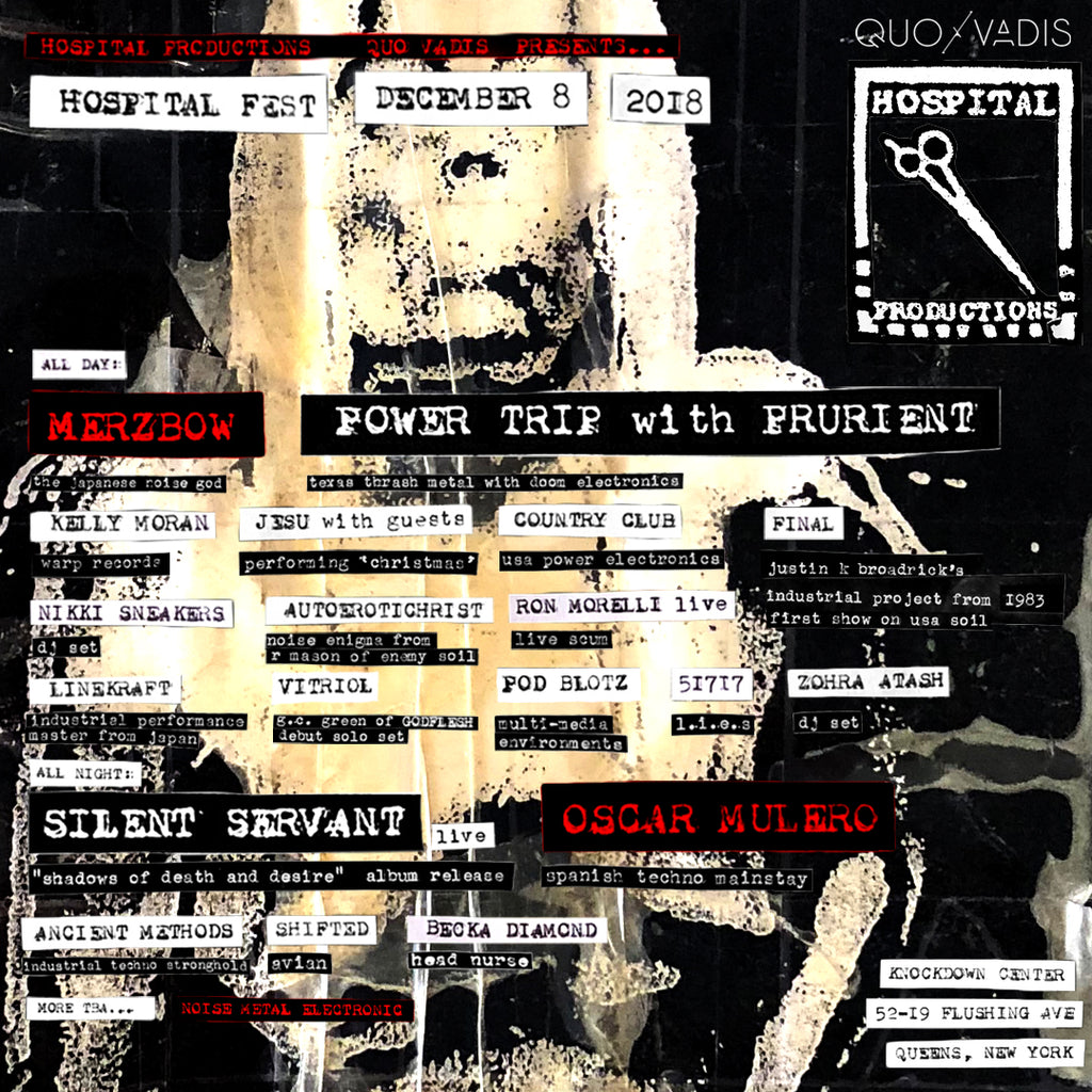 Merzbow, Oscar Mulero + More Added To Hospital Fest NYC December 8th NYC