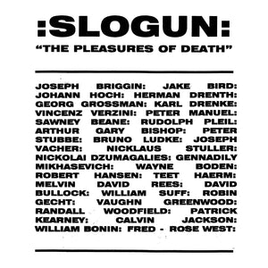SLOGUN | THE PLEASURES OF DEATH | BLACK VINYL 2XLP
