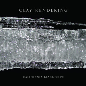 CLAY RENDERING | CALIFORNIA BLACK VOWS | CLEAR WITH BLUE SPLATTER VINYL