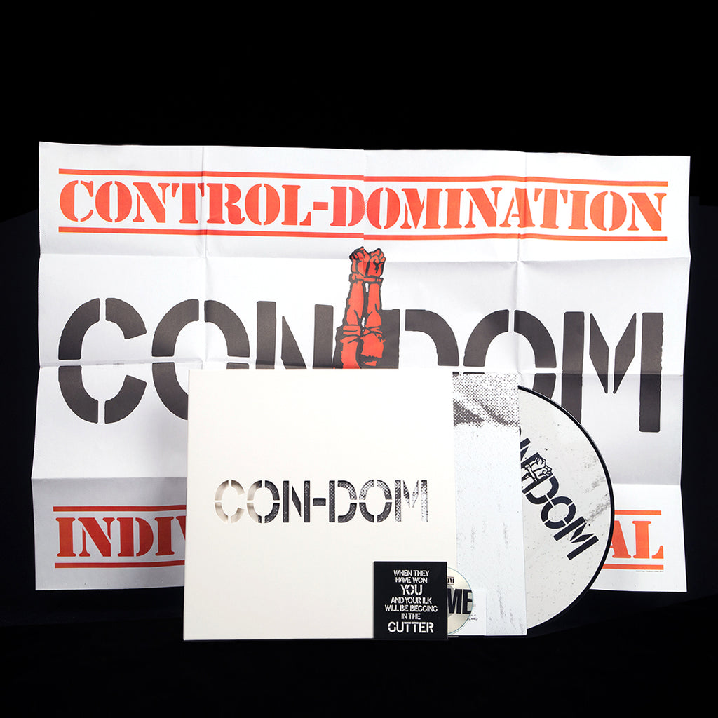 CON-DOM | DRAGGED INTO THE GUTTER | PICTURE DISC LP + 3-INCH INTERVIEW CD + POSTER