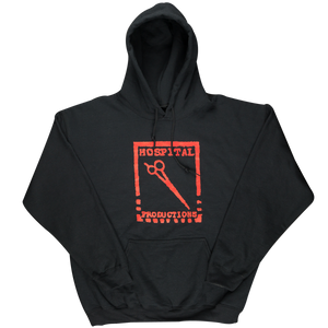 HOSPITAL PRODUCTIONS LOGO HOODIE | RED LOGO