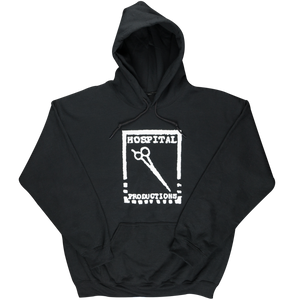 HOSPITAL PRODUCTIONS LOGO HOODIE | WHITE LOGO