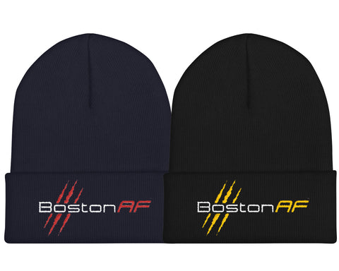 "Boston AF 12"" Cuffed Beanie - TribalAF"