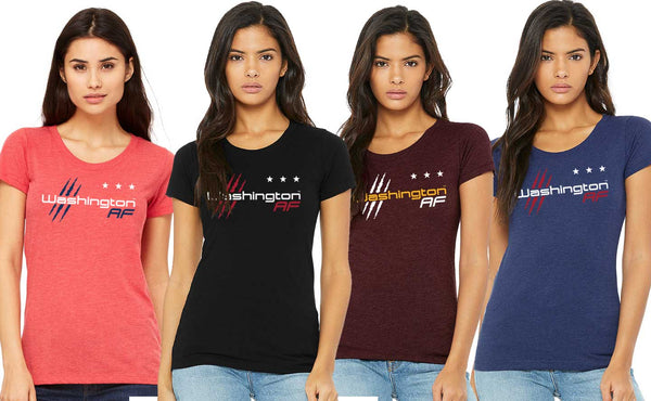 Washington AF Ladies' Triblend Tee - TribalAF