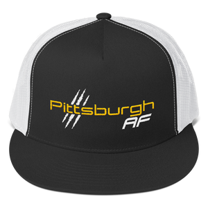Pittsburgh AF Five Panel Trucker Cap - TribalAF