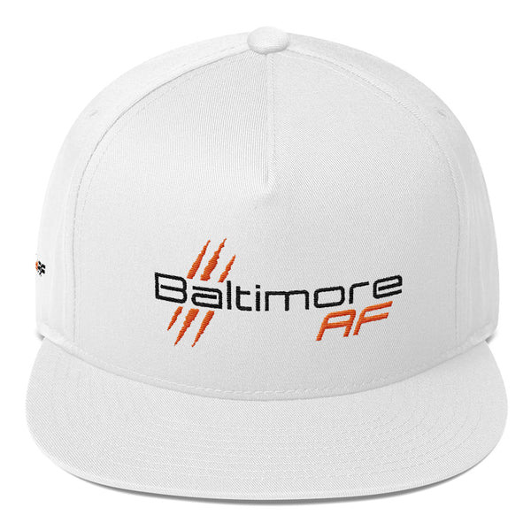 Baltimore AF Five-Panel Flat Bill Cap (Orioles) - TribalAF