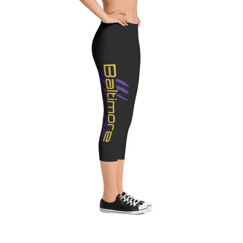 Baltimore AF Capri Leggings (Purple) - TribalAF
