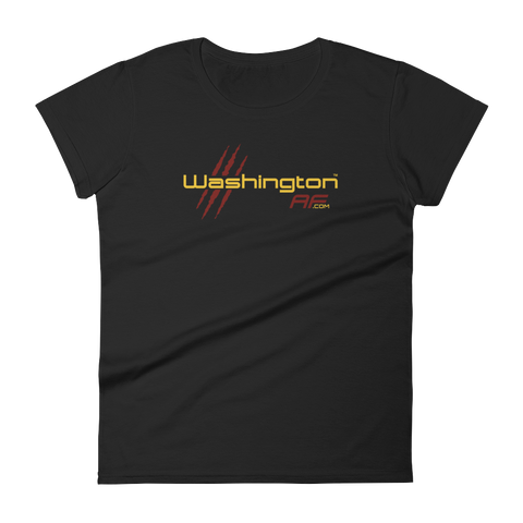Washingtion AF Ladies' T Shirt (Maroon & Gold) - TribalAF