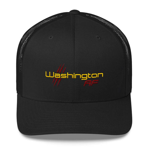 Washington AF Retro Trucker Cap (Gold  & Maroon) - TribalAF