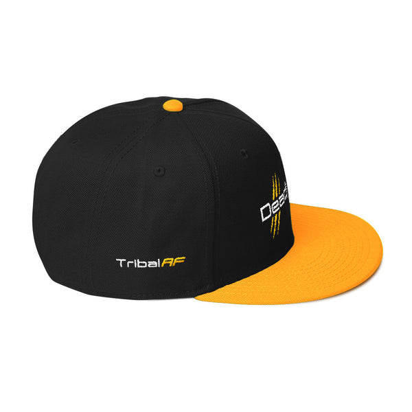 Deadly AF 5-Panel Snapback Hat (Gold) - TribalAF