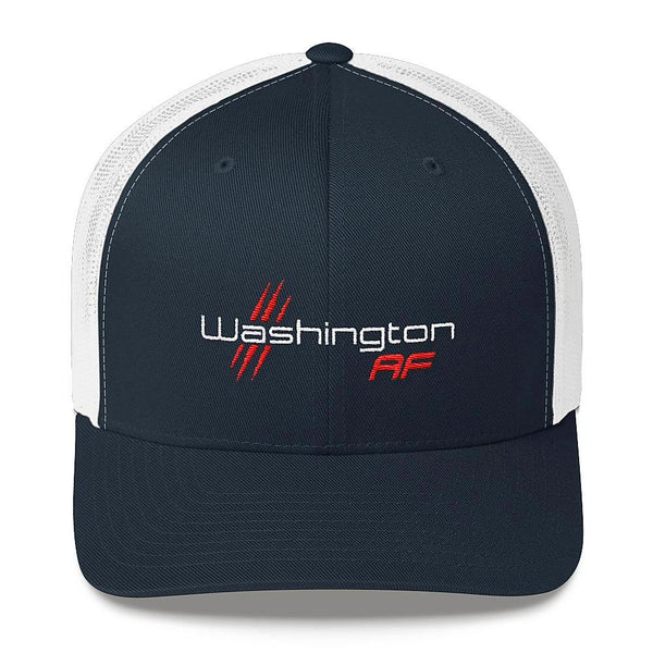 Washington AF Retro Trucker Cap (Red, White & Blue) - TribalAF