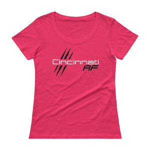 Cincinnati AF Ladies' Scoopneck T-Shirt (Pink) - TribalAF