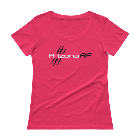 Arizona AF Ladies' Scoopneck T-Shirt (Pink) - TribalAF