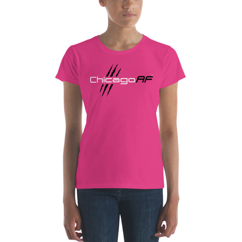 Chicago AF Ladies' T-Shirt (Pink) - TribalAF