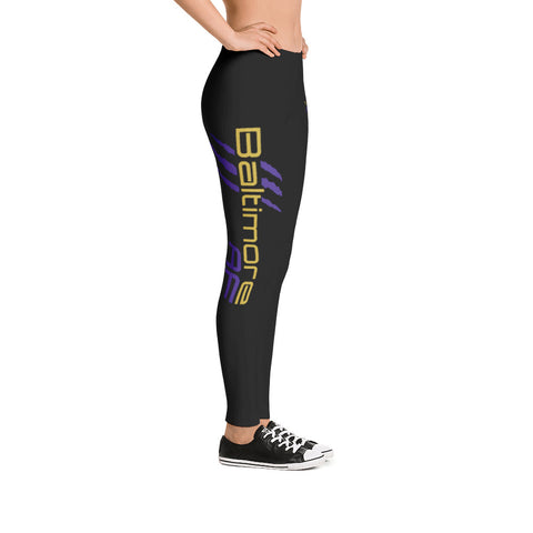 Baltimore AF Leggings (Purple) - TribalAF