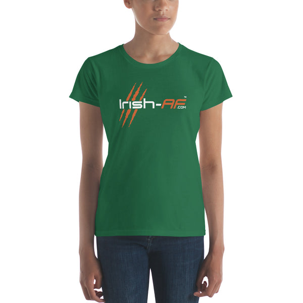 Irish-AF Ladies Ringspun Fashion Fit T-Shirt with Tear Away Label - TribalAF