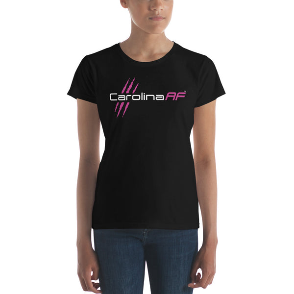 Carolina AF Ladies' T-Shirt (Pink) - TribalAF