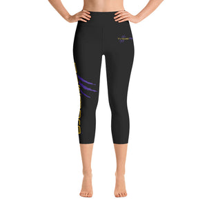 Baltimore AF Yoga Capri Leggings (Purple) - TribalAF