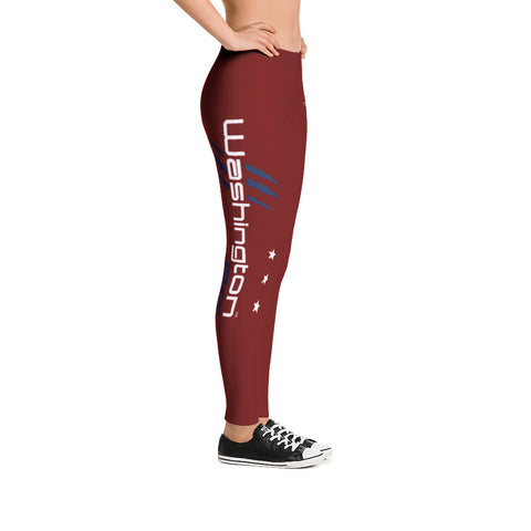 Washington AF Leggings (Rock the Red) - TribalAF