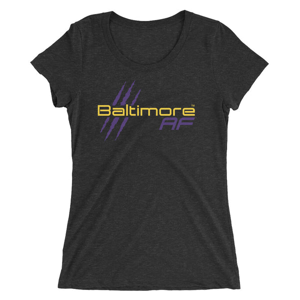 Baltimore AF Ladies' Tri-blend Tee - TribalAF