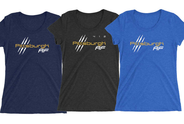 Pittsburgh AF Ladies' Triblend Tee - TribalAF