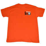 Dirty Whooore Men's Orange T with DW Square Black & White Logo