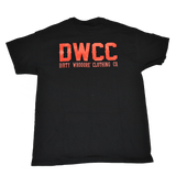 Dirty Whooore Men's Black T with DWCC Orange Logo