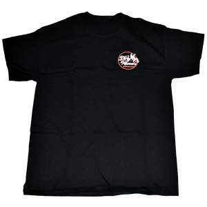 Dirty Whoore Men's Black T with She Devil Orange logo