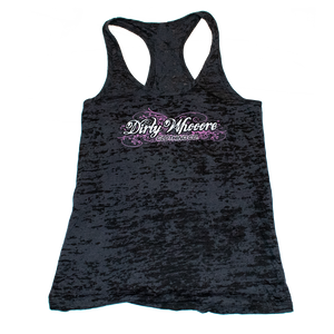 Dirty Whooore Ladies Black Athletic Tank