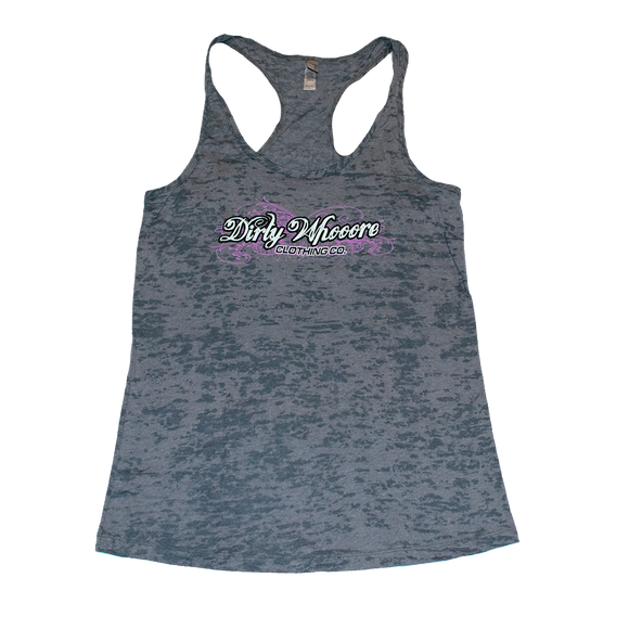 Dirty Whooore Ladies Gray Athletic Tank