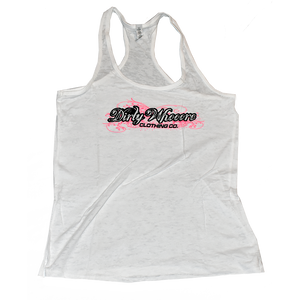 Dirty Whooore Ladies White Athletic Tank