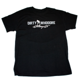 Dirty Whooore Men's Black T with Standing Lady Logo