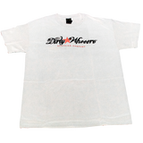 Dirty Whooore Men's White T with Star Logo Red