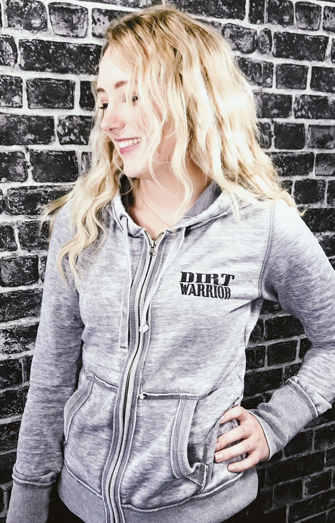 J America Ladies Zen Zip-up Hoodie