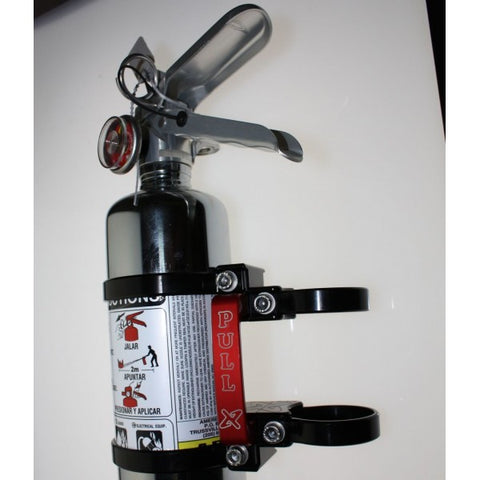 Quick Release Fire Extinguisher Mount w/ 2.5lb Chrome Extinguisher