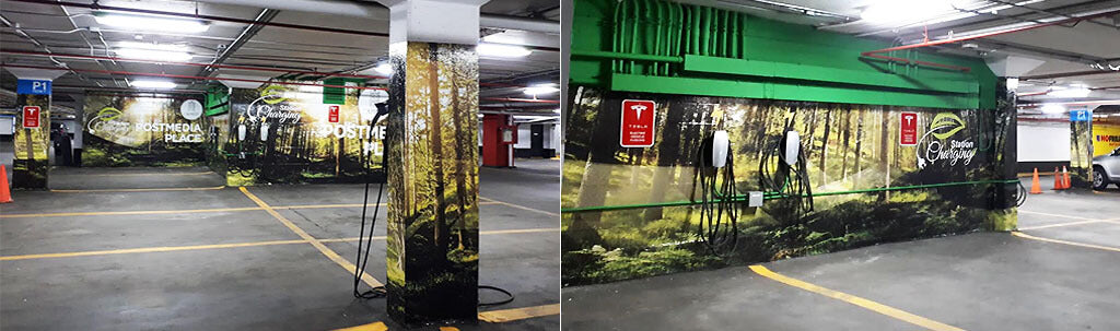 Custom Printed Wallpaper Murals for underground Parking