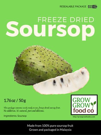 Freeze Dried Soursop Fruit