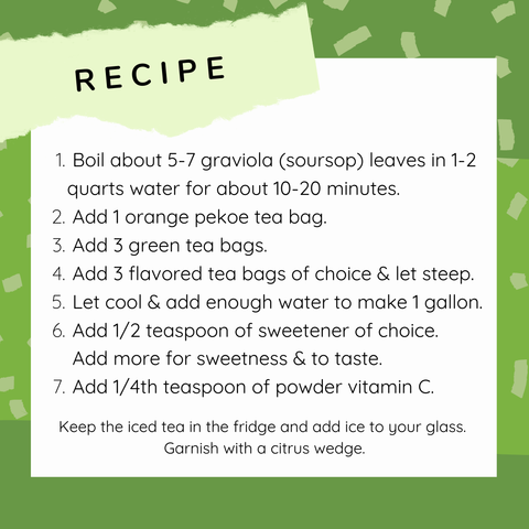soursop iced tea recipe