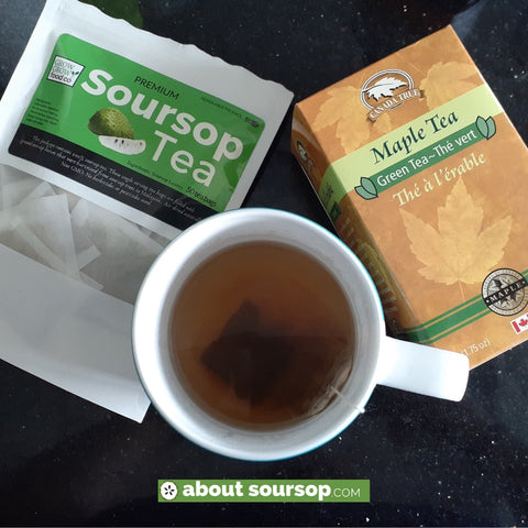 maple green tea soursop tea