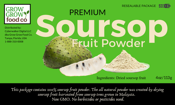 Soursop Fruit Powder - 4 oz / 113g bag