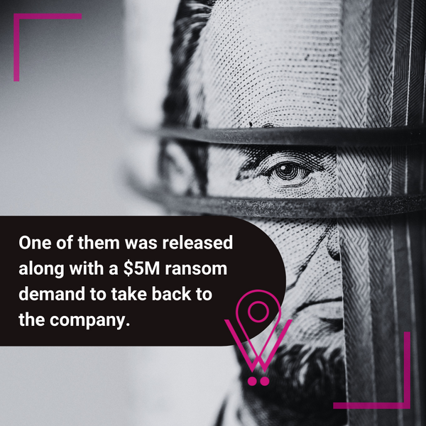 kidnappers ask for a 5 million ransom