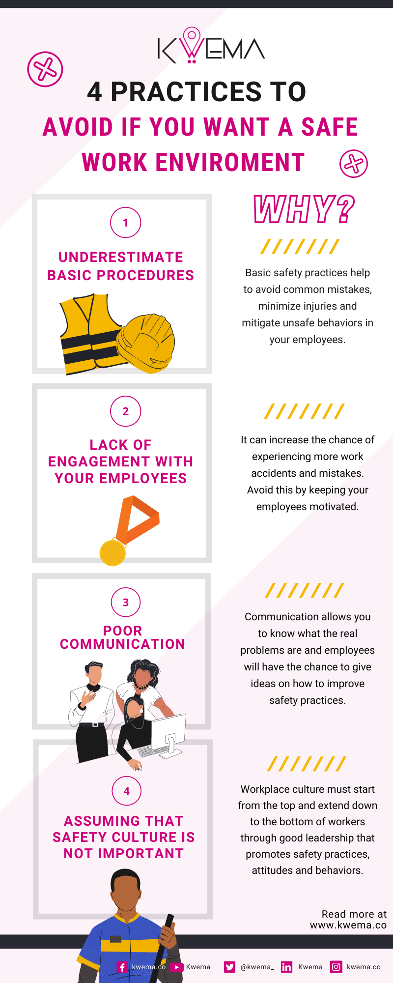 4 unsafe workplace practices that every professional must avoid