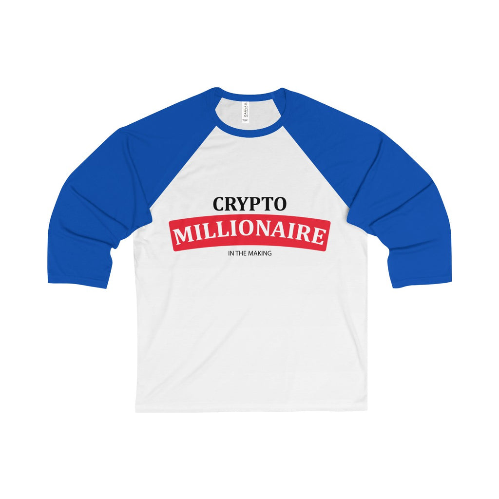 Crytpo Millionaire In The Making Baseball Tee