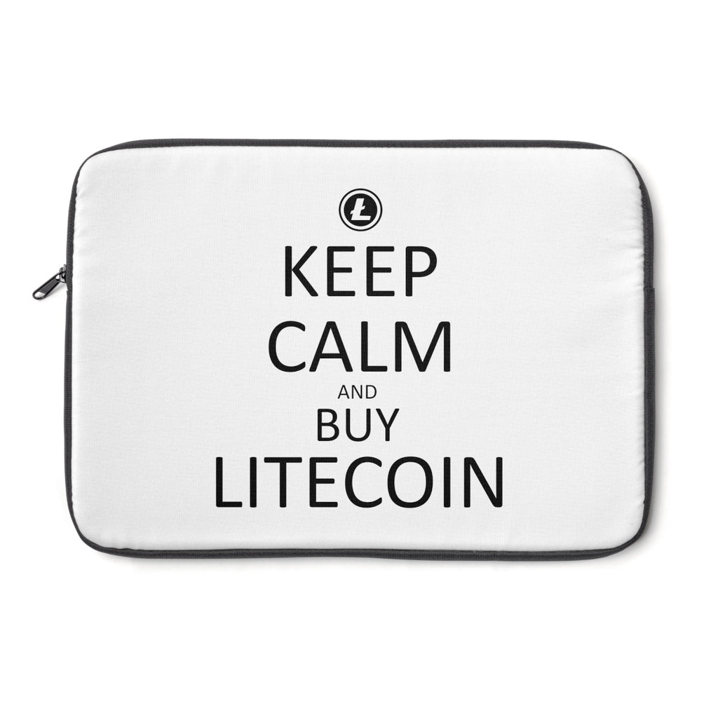Keep Calm And Buy Litecoin Laptop Sleeve