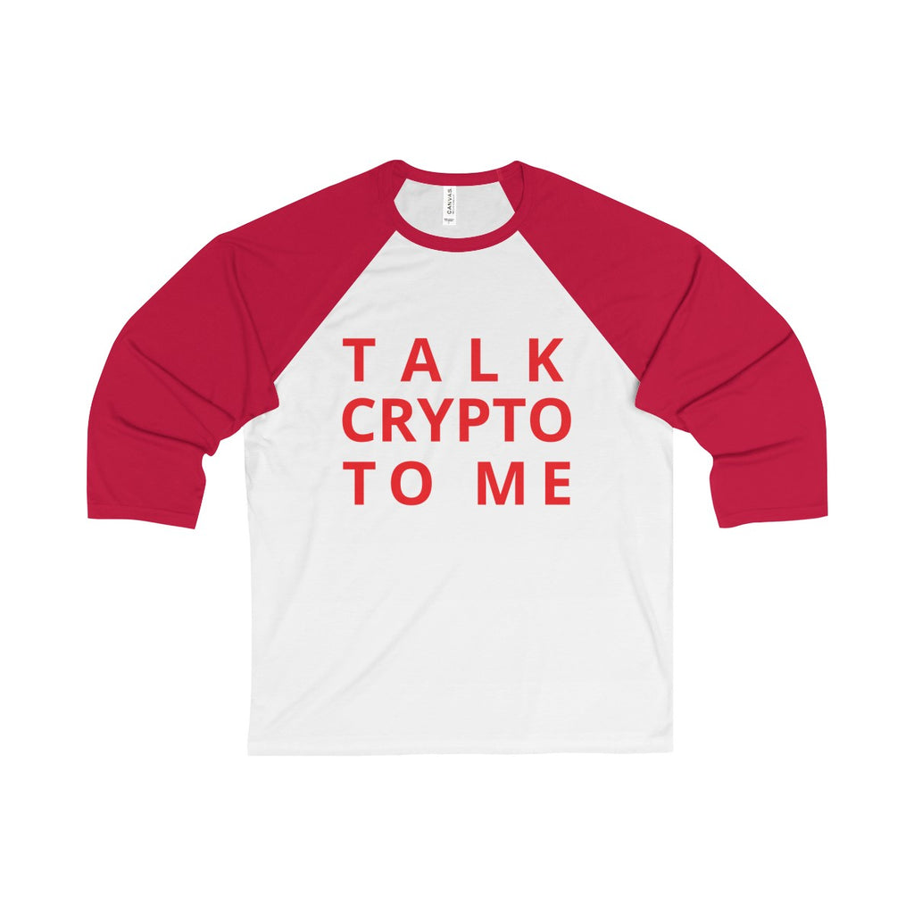 Talk Crypto To Me Baseball Tee